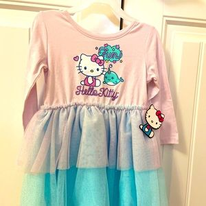 Hello Kitty dress with tulle bottoms size 3T. BNWT
